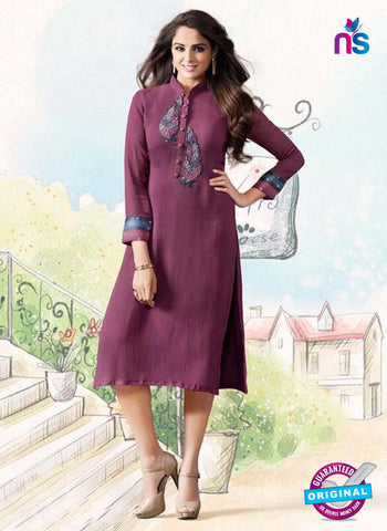 LT 10112 Purple Party Wear Kurti