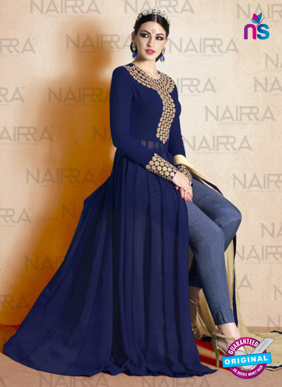 AZ 2123 Blue Georgette  Party Wear Suit