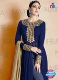 AZ 2123 Blue Georgette  Party Wear Suit - Salwar Suits - NEW SHOP