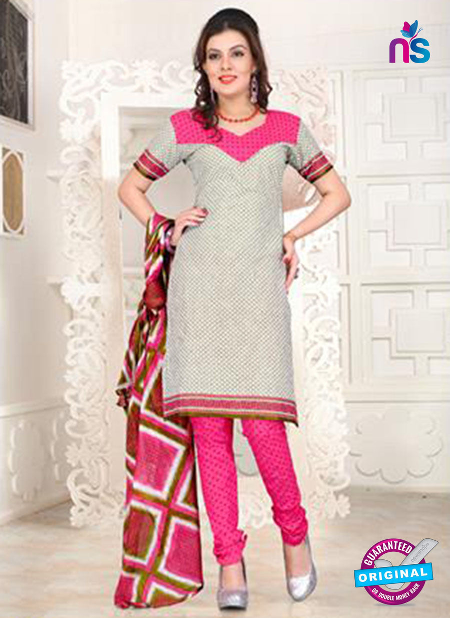 NS12101 Gray and Pink Chudidar Suit