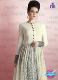 Nairra 1014A Beige Net Party Wear Suit Online