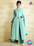 AZ 2125 Sea Green  Net Party Wear Suit