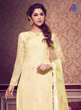 NS11481 LightYellow Faux Georgette Pakistani Suit Online