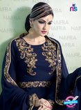 AZ 2126 Blue Georgette  Party Wear Suit