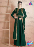 AZ 2127 Green Georgette  Party Wear Suit