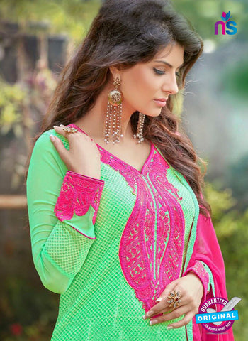 AZ 3302 Green Embroidery Georgette Party Wear Suit Online