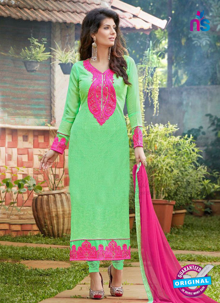 AZ 3302 Green Embroidery Georgette Party Wear Suit