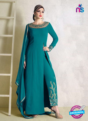 Nakkashi 1016 A Sea Green Bhagalpuri Georgette Pakistani Suit