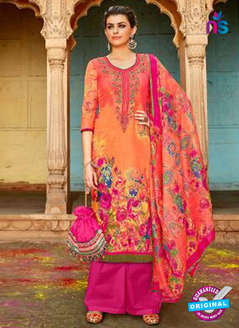 Levisha 1016 Orange Formal Cotton Suit