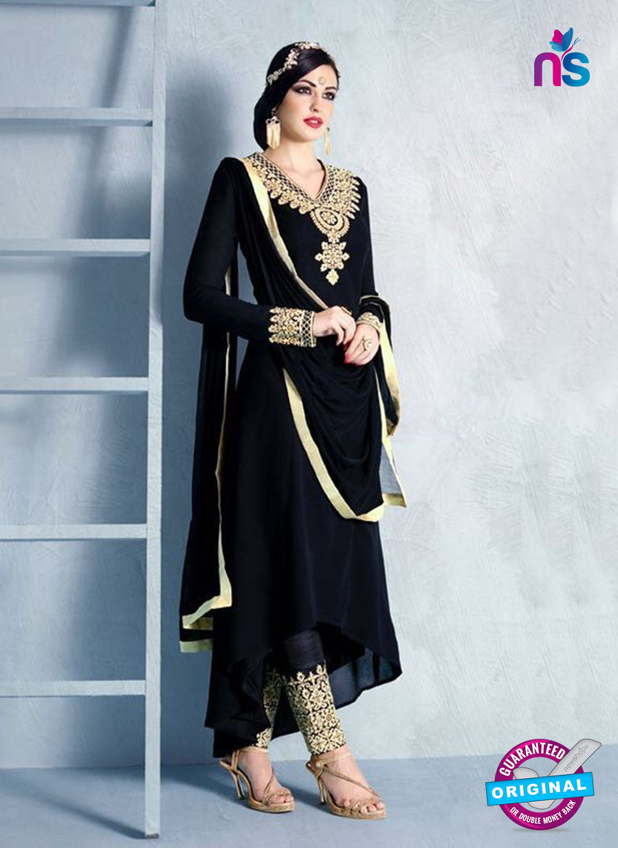 Buy Nakkashi 1017 B Black Georgette Party Wear Suit Online