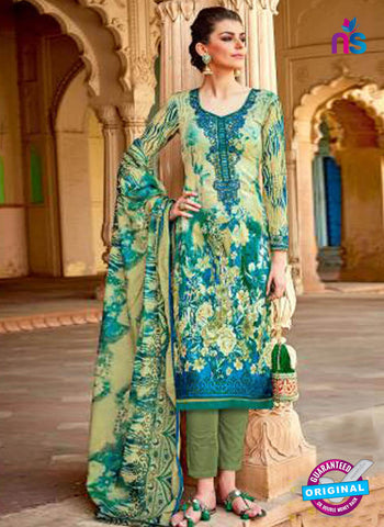 Levisha 1017 Pista Green Formal Cotton Suit