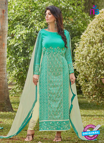 AZ 3304 Sea Green Embroidery Georgette Party Wear Suit