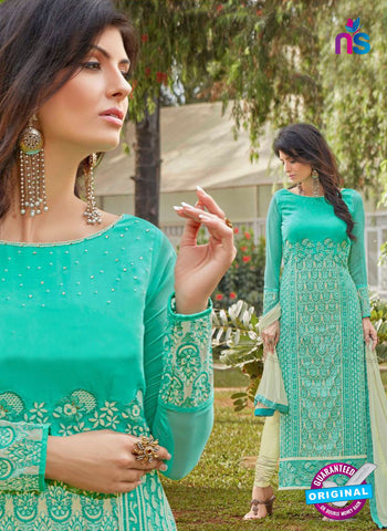 AZ 3304 Sea Green Embroidery Georgette Party Wear Suit Online