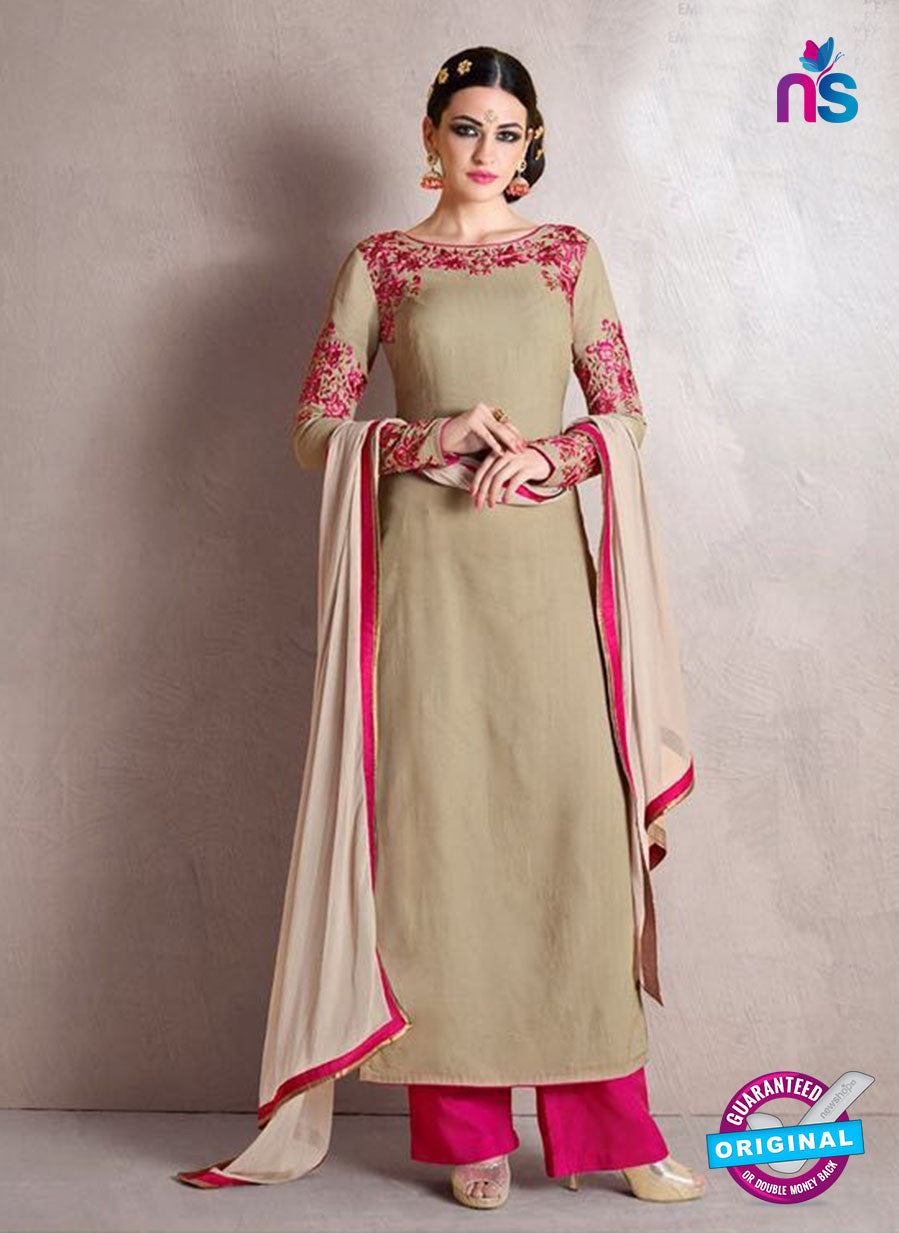 Nakkashi 1018 A Beige Georgette Party Wear Suit