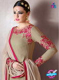Nakkashi 1018 A Beige Georgette Party Wear Suit Online