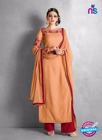 Nakkashi 1018 B Orange Georgette Party Wear Suit