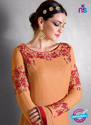 Nakkashi 1018 B Orange Georgette Party Wear Suit Online