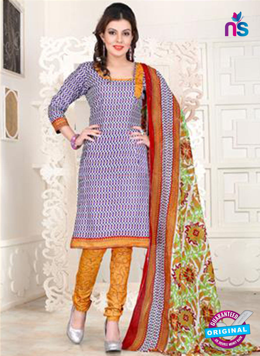 NS12106 Multicolor and Yellow Chudidar Suit