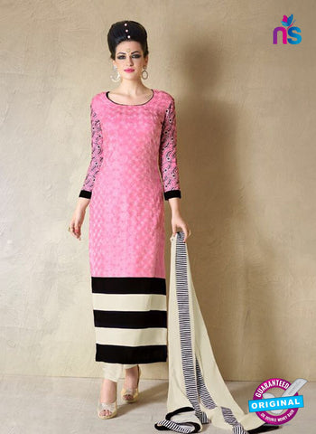 Nakkashi 1019 A Pink Georgette Party Wear Suit