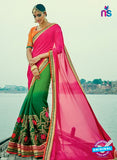 AZ 3840 Green Georgette Party Wear Saree
