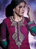 NS10778  Pink & Purple Color Georgette Designer Suit