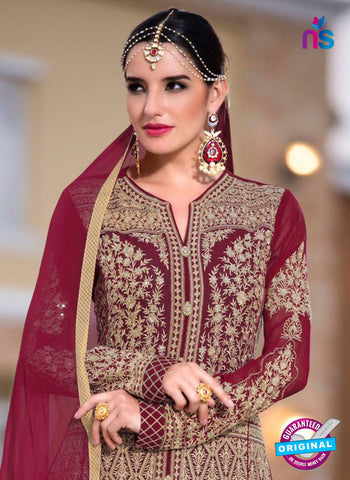 Beauty 101 Maroon Indo Western Suit