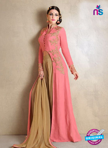 AZ 3446 Peach Georgette Party Wear Suit - Salwar Suits - NEW SHOP