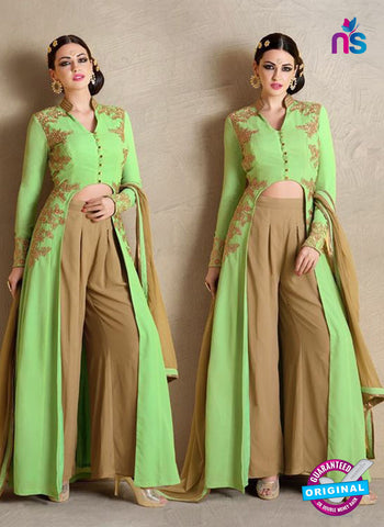 Nakkashi 1020 B Green Georgette Party Wear Suit