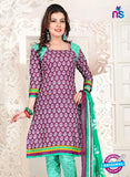 NS12108 Purple and Sea Green Chudidar Suit