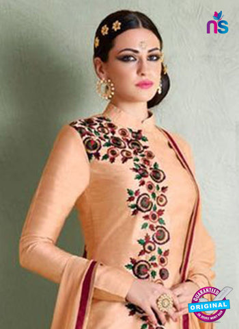 AZ 3448 Peach Bhagalpuri Party Wear Suit - Salwar Suits - NEW SHOP