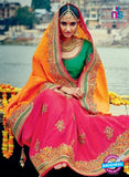 Buy Pink Georgette Party Wear Saree
