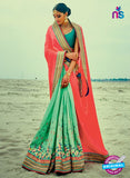Green Georgette Party Wear Saree