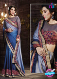 SC 13514 Blue Designer Fancy Traditional Party Wear Saree