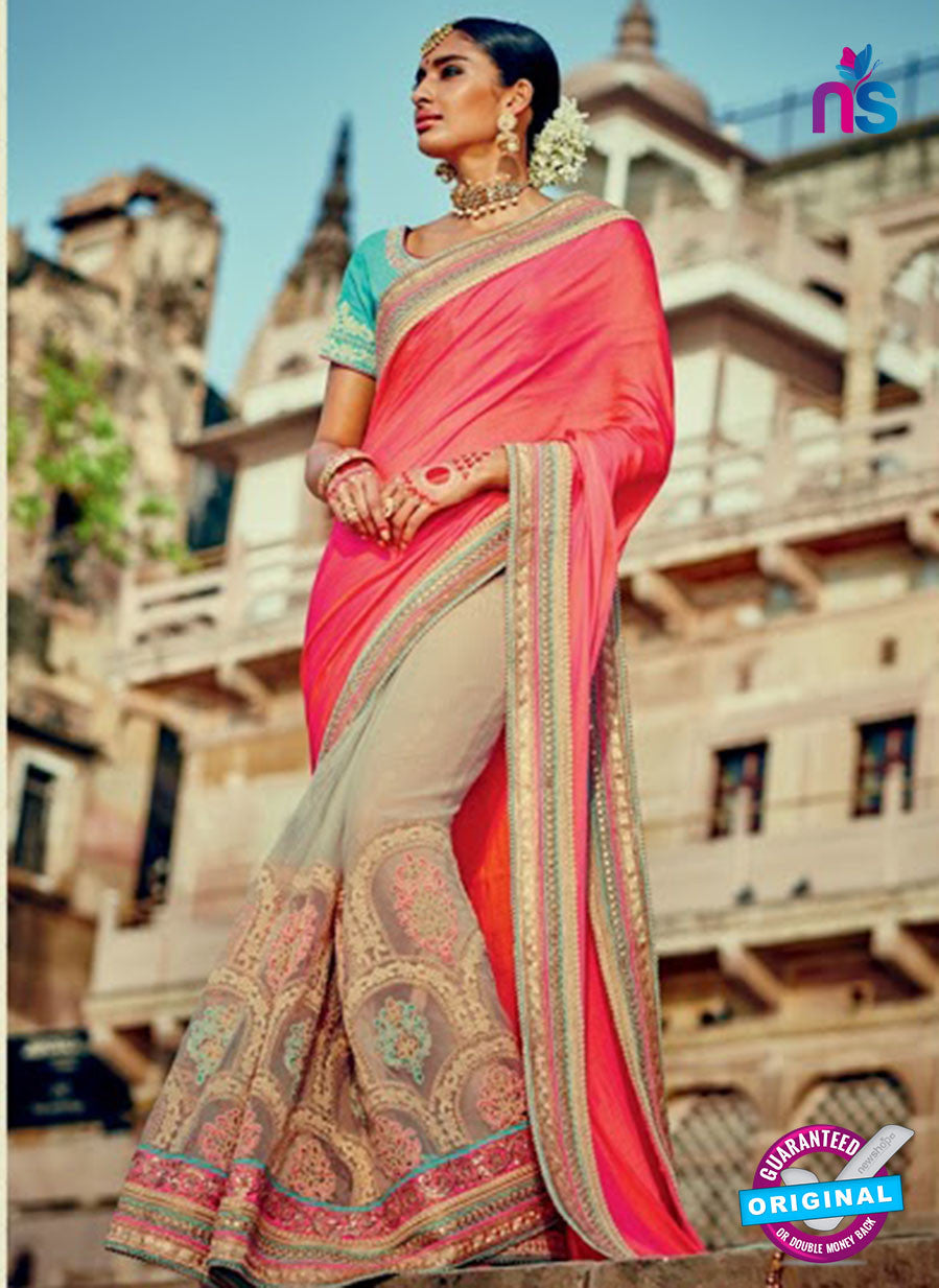 beige georgette party wear saree