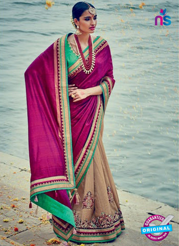 beige georgette party wear saree online