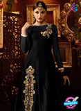 AZ 2258 Black and Beige Embroidery Silk Party Wear Suit - Salwar Suits - NEW SHOP