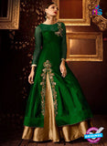 AZ 2260 Green and Beige Embroidery Silk Party Wear Suit