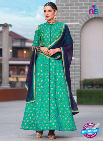Beauty 103 Sea Green Indo Western Suit