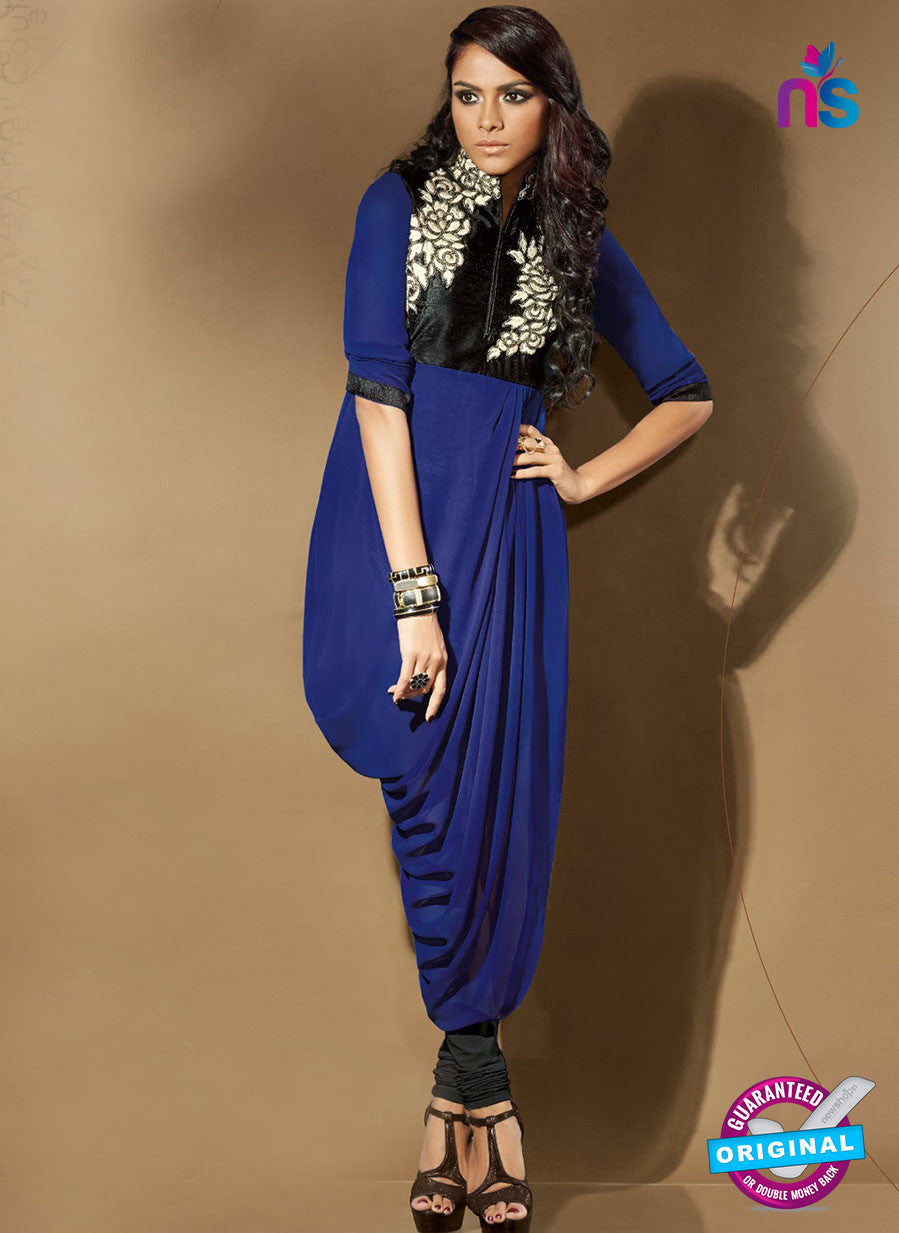 SC 14116 Blue Faux Georgette Party Wear Tunic