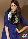 SC 14116 Blue Faux Georgette Party Wear Tunic Online