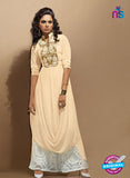 SC 14112 Beige Faux Georgette Party Wear Tunic