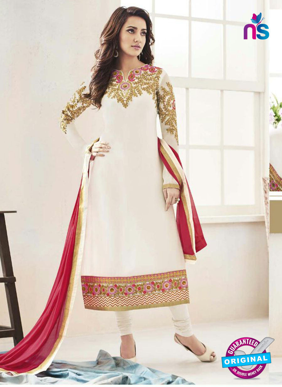 Fiona104  White Color Georgette Designer Suit