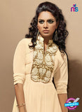 SC 14112 Beige Faux Georgette Party Wear Tunic Online