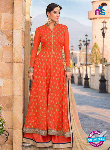 Beauty 105 Orange Indo Western Suit