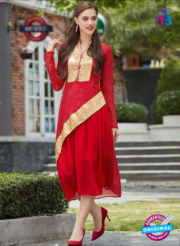 Sparrow 1068 Red Indo Western Tunic