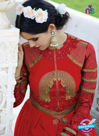 AZ 6183 Red Indo Western Suit