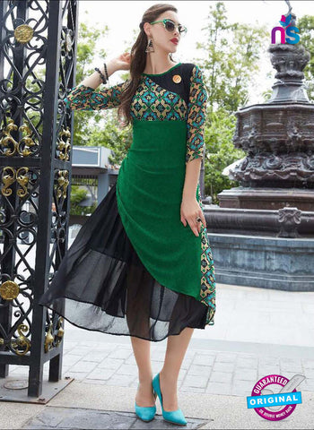 Sparrow 1070 Green Indo Western Tunic