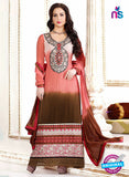 NS12045 Pink and Brown Straight Suit