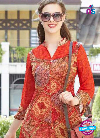 Sparrow 1075 Red Indo Western Tunic