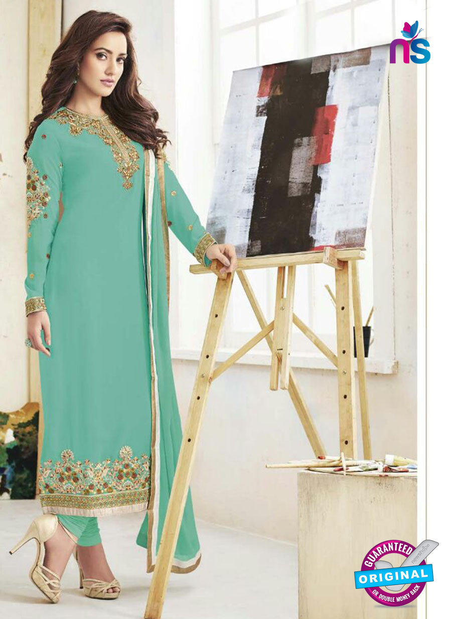 Fiona107  Blue Color Georgette Designer Suit